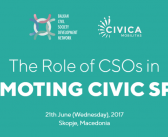 BCSDN Regional Conference on the Role of CSOs in Promoting Civic Space in Skopje
