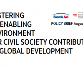 POLICY BRIEF: Fostering an Enabling Environment for Civil Society Contribution to Global Development