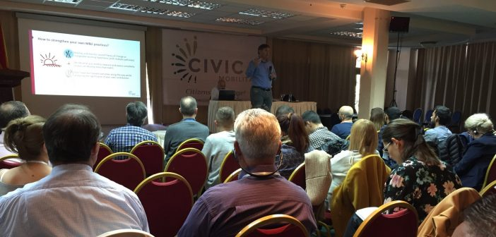 BCSDN Networking in Ohrid with 185 Civica Mobilitas Grantees