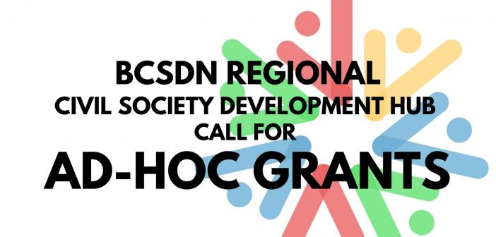 Broadening the Support in Promoting the Civic Space in the Western Balkans: BCSDN Call for Ad-Hoc Grants UPDATED!