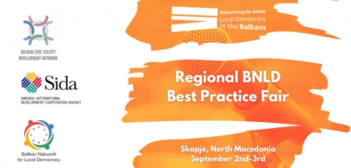 Balkan Network for Local Democracy Organizes Regional Best Practice Fair in Skopje