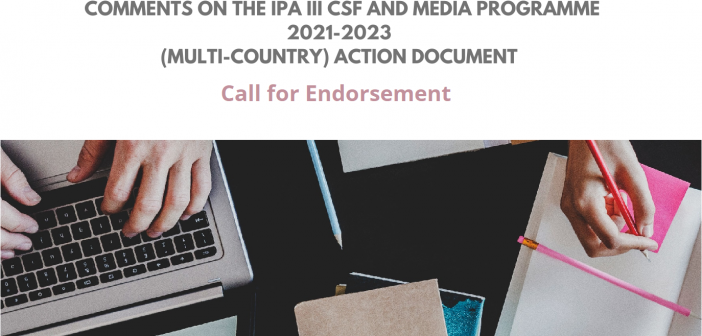 Non-Paper on the IPA III CSF and Media Programme 2021-2023 (Multi-Country) Action Document