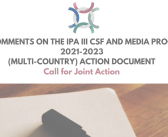 BCSDN Comments on the IPA III CSF and Media Programme 2021-2023 (Multi-Country) Action Document (Call for Joint Action)